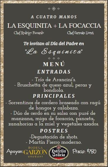 """La Esquinita y La Focaccia se juntan """"a cuatro manos"""" para celebrar el Día del Padre en La Paloma"""