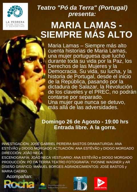 """""""Siempre más alto"""", obra teatral a la gorra en el Club Social y Deportivo de La Pedrera"""