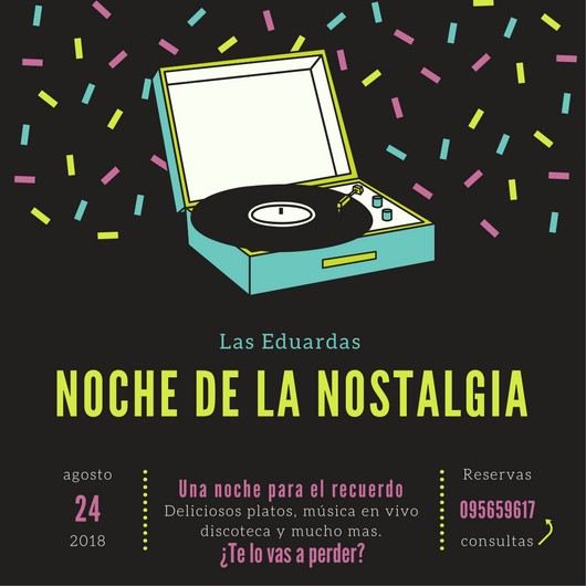 Noche de la Nostalgia con cena show en Las Eduardas Restó en La Paloma