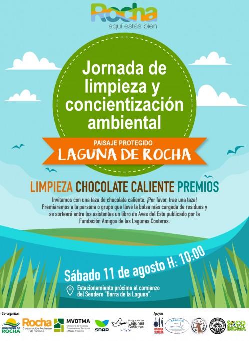 Jornada de limpieza y concientización ambiental en la Laguna de Rocha, ¡súmate por la conservación de nuestras lagunas!