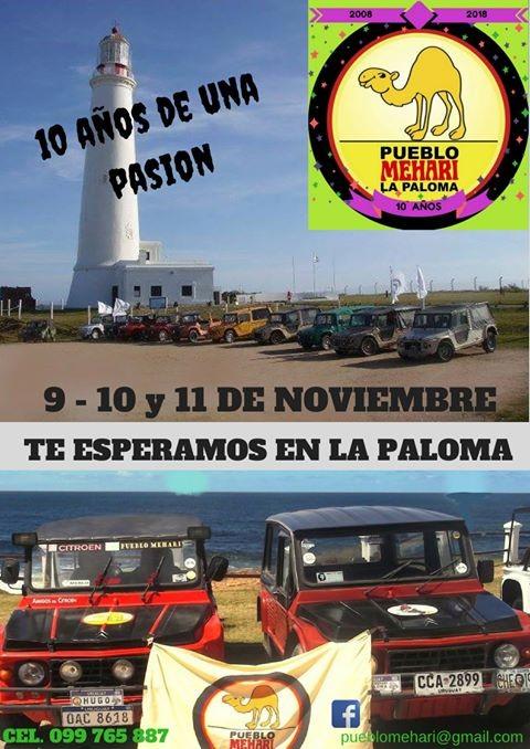 Encuentro de Mehari en La Paloma celebrando 10 años de pasión y 50 años de este clásico vehículo