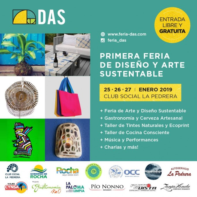 Feria de diseño y arte sustentable en enero en La Pedrera