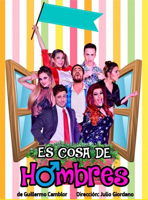 """""""Es cosa de hombres"""" una comedia de enredos en el Teatro 25 de Mayo de Rocha"""
