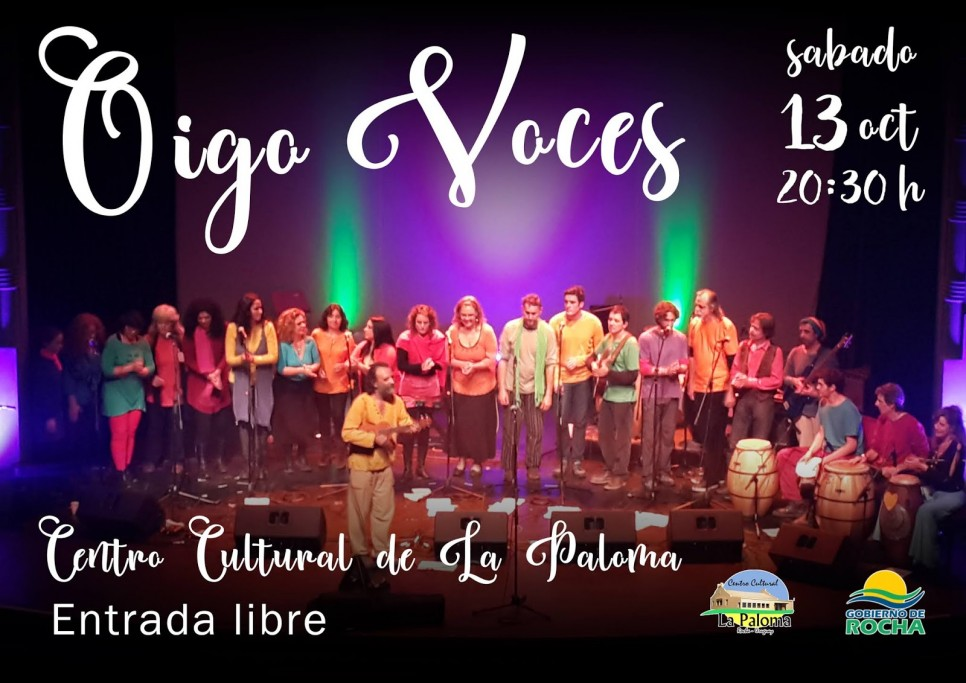 """""""Oigo Voces"""" espectáculo coral e instrumental en el Centro Cultural de La Paloma"""