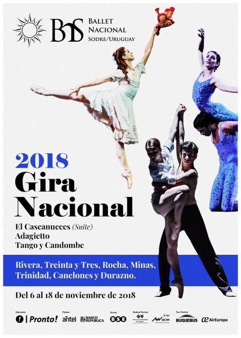 El Ballet Nacional del Sodre llega a Rocha en su Gira por Uruguay 2018