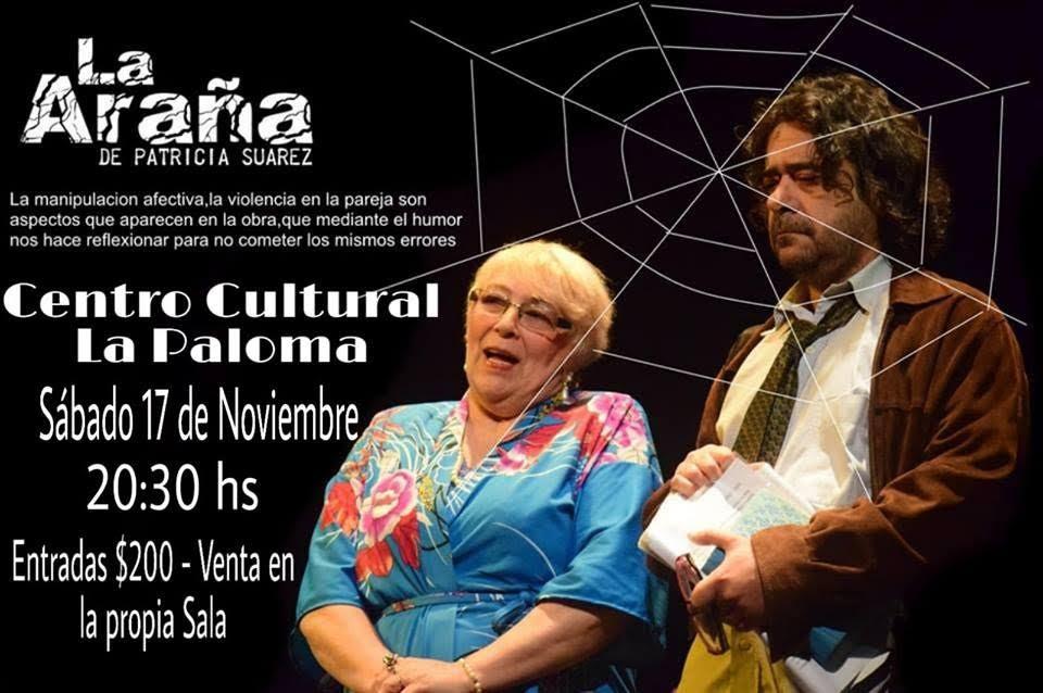 """""""La Araña"""", una obra de Patricia Suárez, se presenta en el Centro Cultural de La Paloma"""