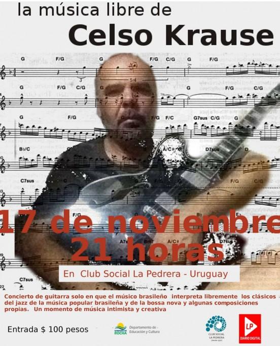 Concierto de guitarra del brasileño Celso Krause en el Club Social y Deportivo de La Pedrera