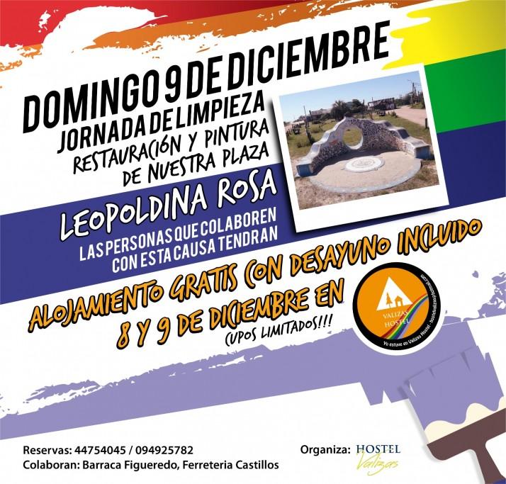 Jornada de limpieza, restauración y pintura de la Plaza Leopoldina Rosa de Barra de Valizas