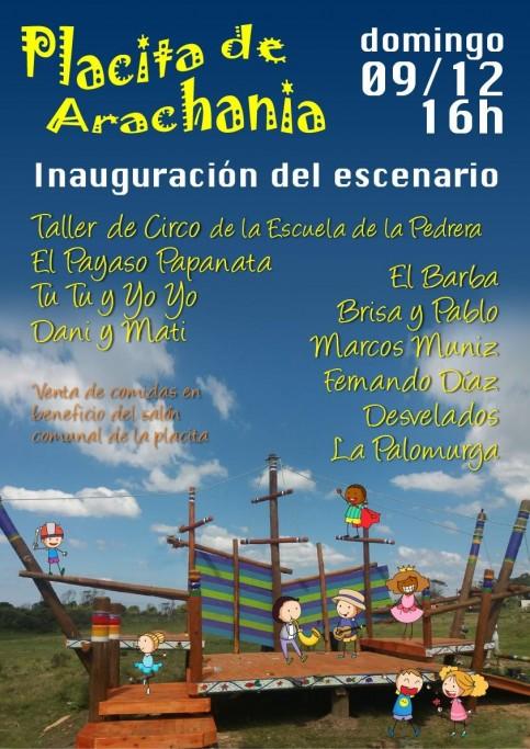 Arachania inaugura un escenario lúdico en su plaza principal con actividades para toda la familia