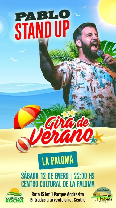 Pablo Stand Up llega a La Paloma en su gira de verano, show en el Centro Cultural