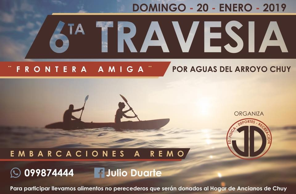 """6ta Travesía a remo por aguas del Arroyo Chuy, """"Frontera Amiga"""""""