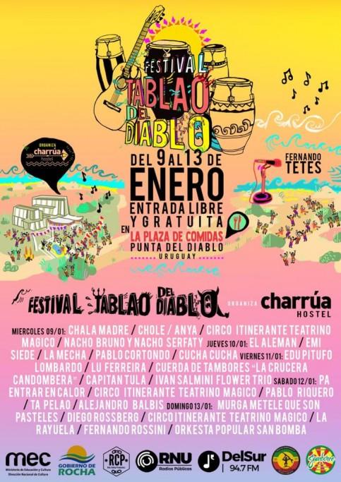 Festival Tablao del Diablo, 5 días de música y shows en vivo en Punta del Diablo. ¡Entrada gratis!
