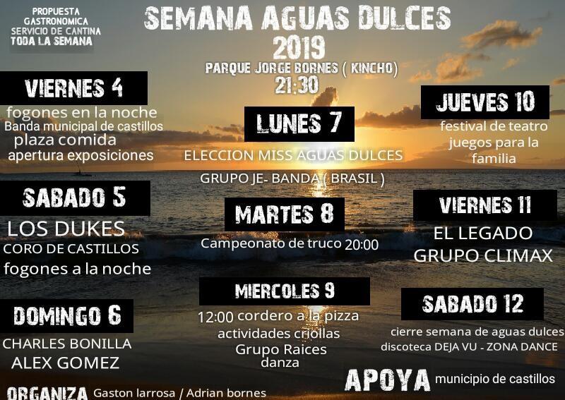 En enero celebramos la Semana de Aguas Dulces 2019, música en vivo, exposiciones, plaza de comidas