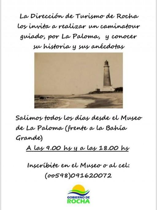 Caminatour guiado por La Paloma, todos los días, para conocer sus historias y anécdotas. ¡Sin costo!