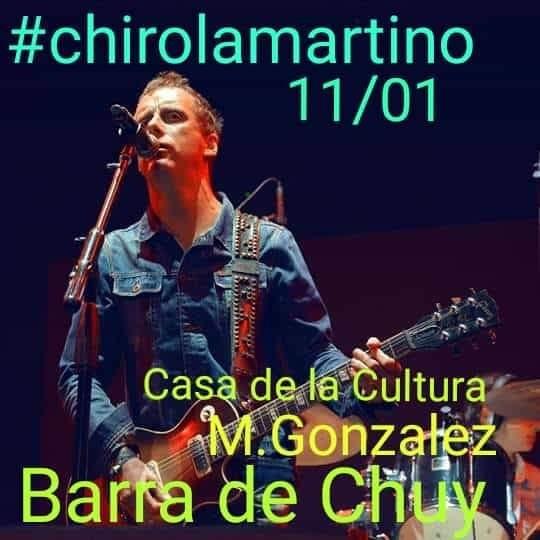 """Show en vivo de Diego """"Chirola"""" Martino en el Centro Cultural de Barra de Chuy"""