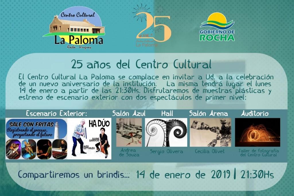El Centro Cultural de La Paloma celebra sus 25 años con un gran show musical y muestras plásticas