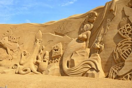 Castillos en la arena en La Paloma