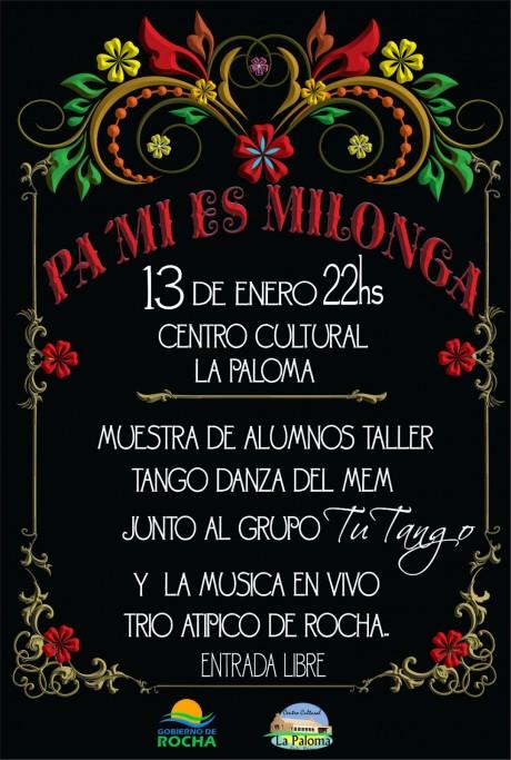 """""""Pa' mi es milonga"""", para ver bailar y escuchar tango en el Centro Cultural de La Paloma"""