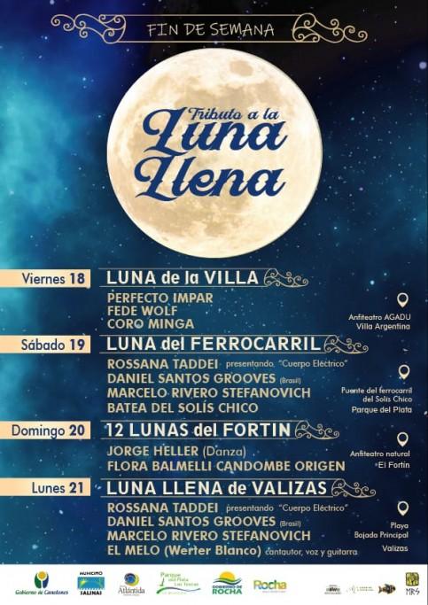 """El ciclo de música """"Tributo a la Luna llena"""" llega a Rocha este verano"""