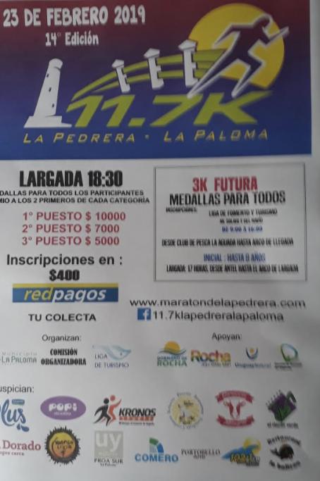 14ª Maratón 11.7K de verano, uniendo La Pedrera y La Paloma