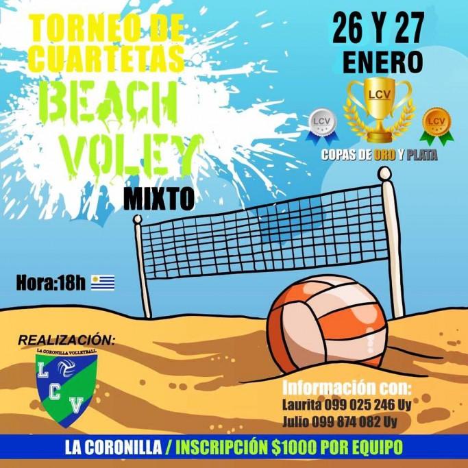 Torneo de beach volley de verano en La Coronilla
