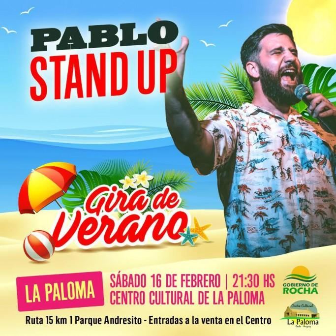 Vuelve Pablo Stand Up al Centro Cultural de La Paloma con su show de verano