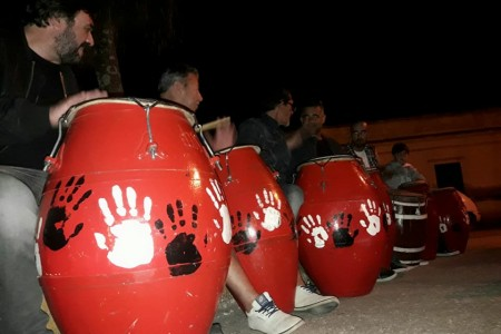 Noche de tambores en Barra de Chuy
