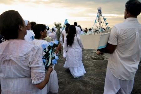 Fiesta de Iemanjá en Barra de Valizas
