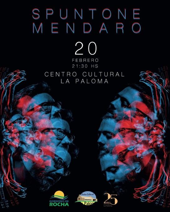 """Show en vivo del dúo """"Spuntone y Mendaro"""" en el Centro Cultural de La Paloma"""