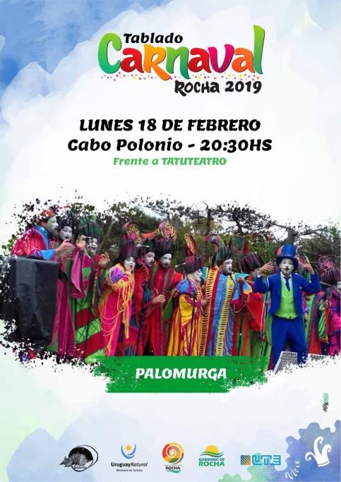 Escenario de Carnaval en Cabo Polonio con la actuación de Palomurga. ¡Entrada libre!