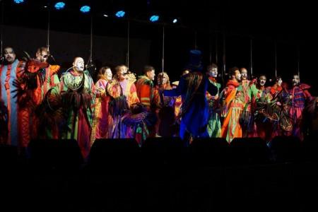 Escenario de Carnaval en Cabo Polonio