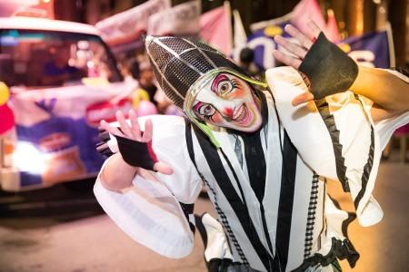 Escenario barrial de Carnaval en Rocha
