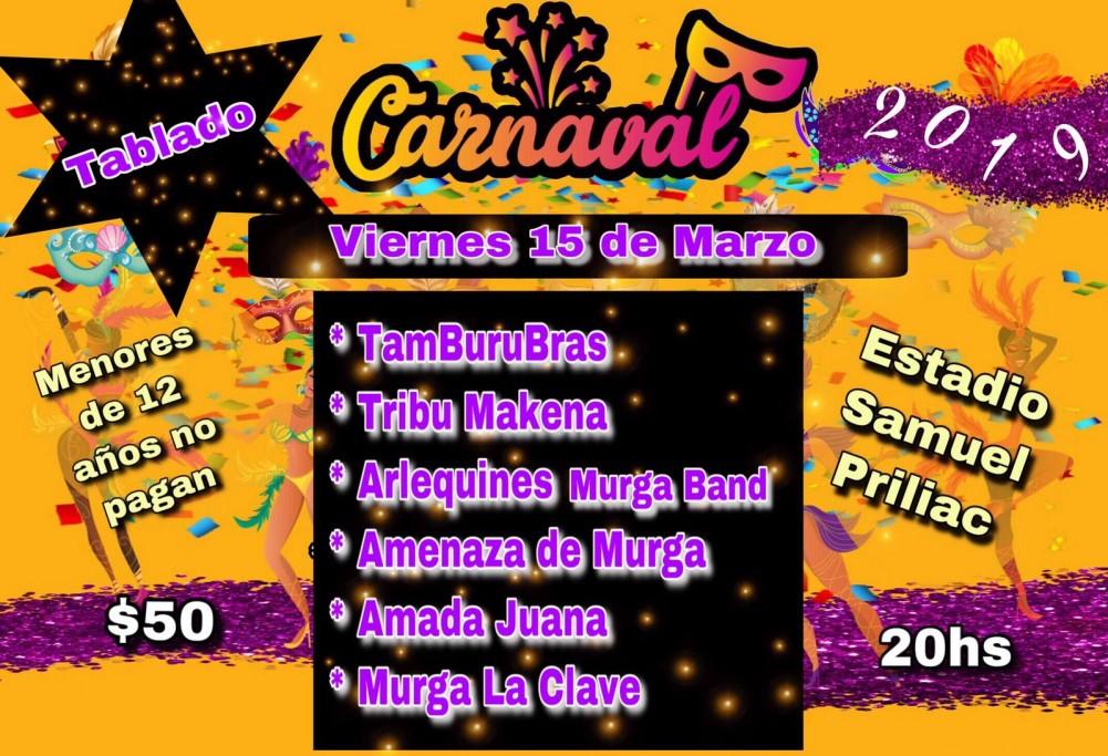 Tablado de Carnaval en el Estadio Samuel Priliac de la ciudad de Chuy