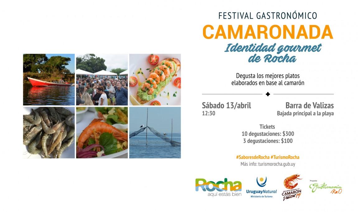3ª Camaronada en Semana de Turismo en Barra de Valizas, para degustar exquisitos platos en base al camarón de Rocha
