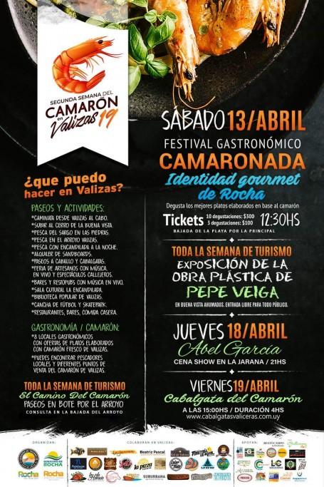 2ª Semana del Camarón en Barra de Valizas: gastronomía típica, paseos, música y más durante Semana de Turismo