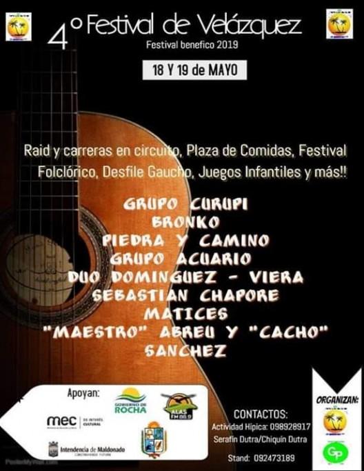 En mayo 4to Festival de Velázquez con música en vivo, desfile gaucho y actividades criollas
