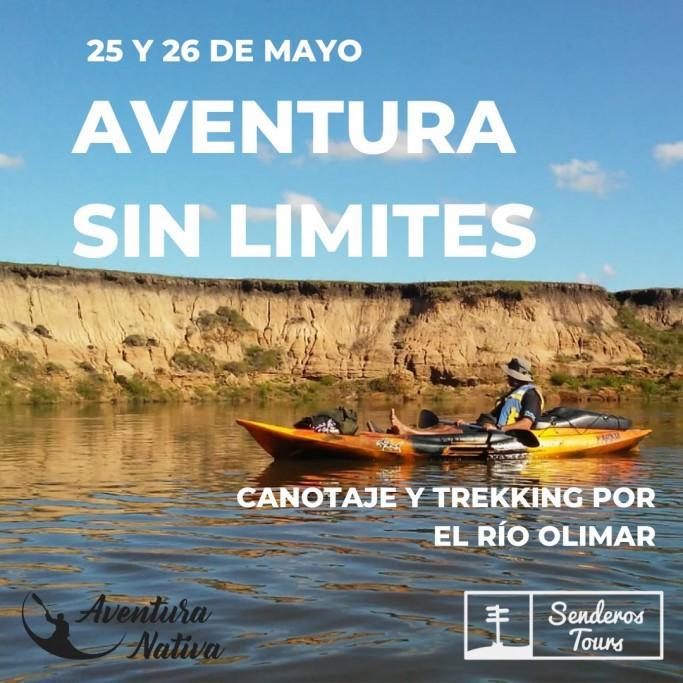 Canotaje y trekking por el Río Olimar con Senderos Tours, saliendo desde La Paloma y Rocha
