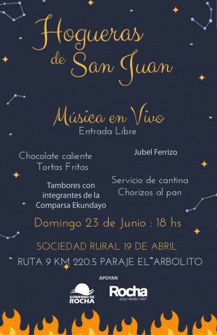 Hogueras de San Juan en la Sociedad Rural 19 de Abril: para recibir el invierno en Rocha