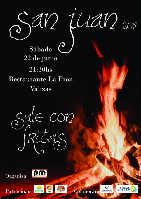 Noche de San Juan en restaurante La Proa en Barra de Valizas, con música en vivo