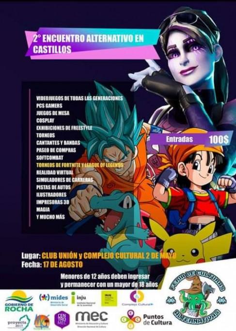 2do Encuentro Alternativo en Castillos: cosplay, videojuegos, anime, consolas, torneos y diversión