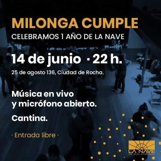 Celebración del 1er año de La Nave Cine Teatro de la ciudad de Rocha