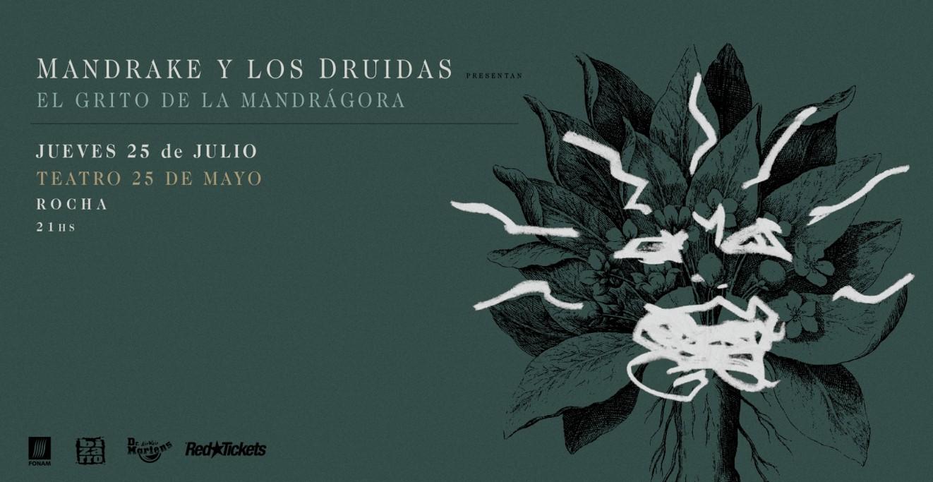 Show en vivo de Mandrake y Los Druidas en el Teatro 25 de Mayo de Rocha