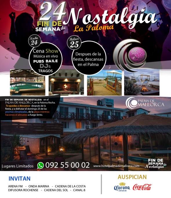 Fin de semana de Nostalgia en Hotel Palma de Mallorca en La Paloma: paquete con alojamiento y cena show