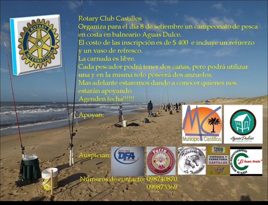 Campeonato de pesca de Rotary Club Castillos en Aguas Dulces
