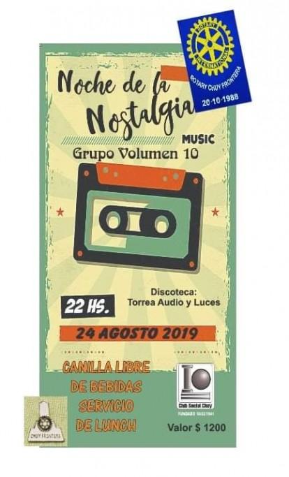 Noche de la Nostalgia en el Club Social de Chuy