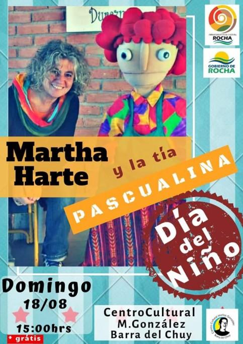 """Celebramos el Día del Niño con el show de la """"tía Pascualina"""" en el Centro Cultural de Barra de Chuy"""