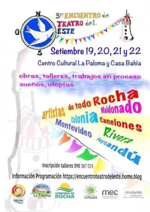 El III Encuentro de Teatro del Este se realizará en el Centro Cultural de La Paloma