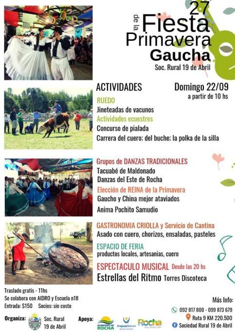 Fiesta de la Primavera Gaucha 2019 en la Sociedad Rural 19 de Abril