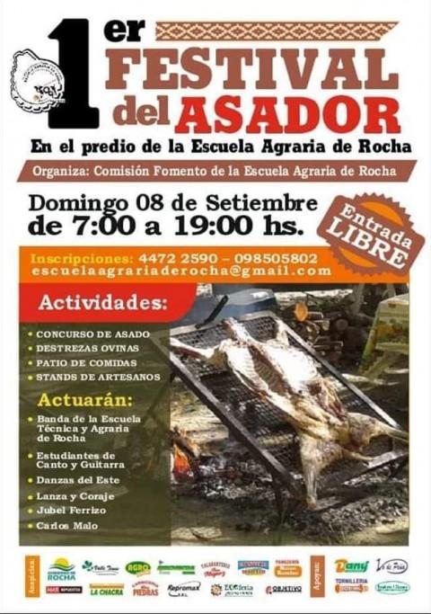 1er Festival del Asador en Rocha: concurso, actividades criollas, gastronomía y música en vivo