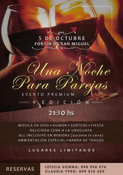 """Para disfrutar de a dos, """"Una noche para parejas"""" en la Hostería Fortín de San Miguel"""